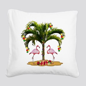 Tropical Holiday Square Canvas Pillow