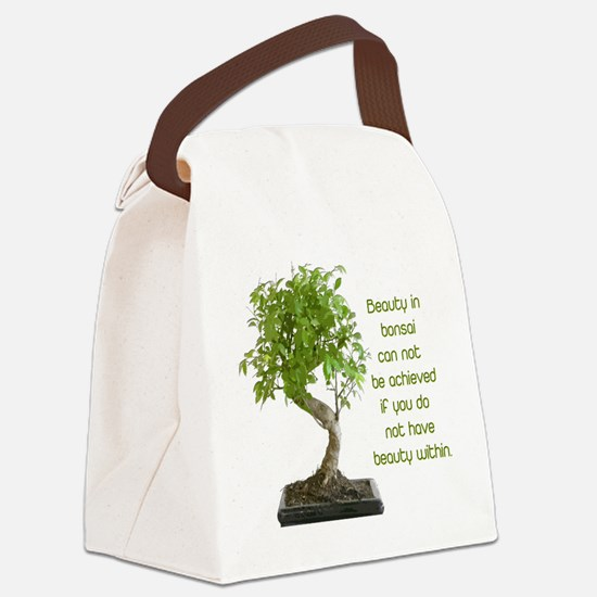 Bonsai Beauty Canvas Lunch Bag