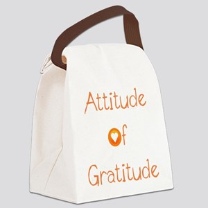 Attitude of Gratitude Canvas Lunch Bag