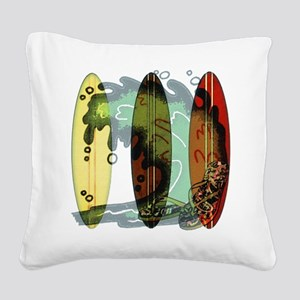 Surf's Up Square Canvas Pillow
