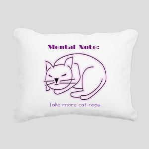 More Cat Naps Rectangular Canvas Pillow