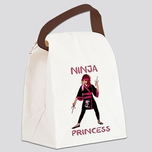 Ninja Princess Canvas Lunch Bag