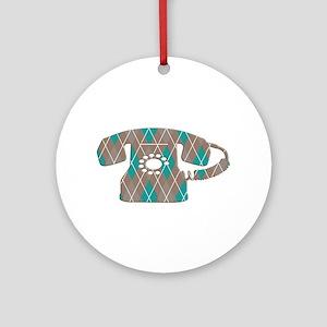 Vintage Telephone Ornament (Round)