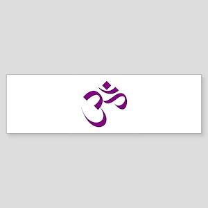 The Purple Aum/Om Bumper Sticker
