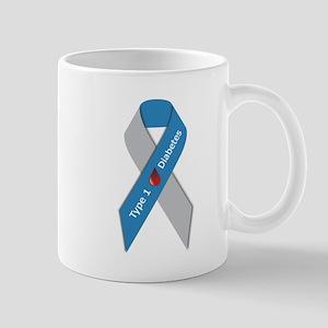 Type 1 Diabetes Awareness Ribbon Mug