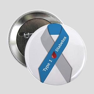 "Type 1 Diabetes Awareness Ribbon 2.25"" Button"
