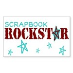 Scrapbook Rockstar Sticker (Rectangle 50 pk)