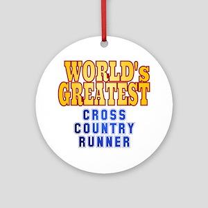 World's Greatest Cross Country Runner Ornament (Ro