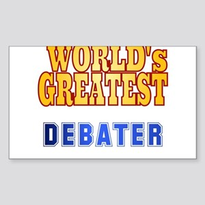 World's Greatest Debater Sticker (Rectangle)