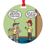 knots_popcorn_sales_3d Round Ornament