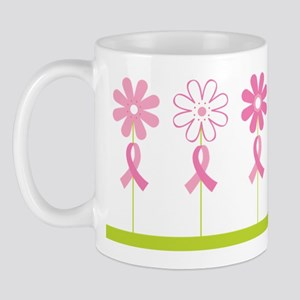 Breast Cancer Awareness Flowers Mug
