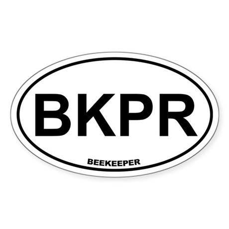 BKPR Beekeeper Sticker (Oval)