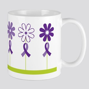 Alzheimers Purple Ribbon Flower Mug
