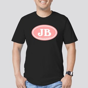 JB Jacksonville Beach Pink Men's Fitted T-Shirt (d