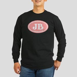JB Jacksonville Beach Pink Long Sleeve Dark T-Shir