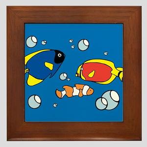 Vintage Fish Tank Framed Tile