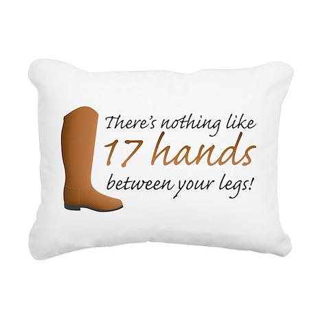 17 Hands Rectangular Canvas Pillow