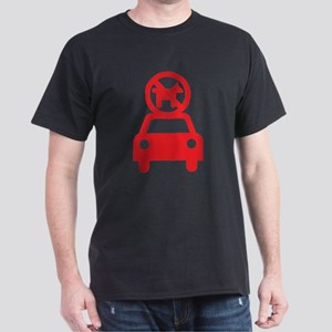 No Dogs on Cars Dark T-Shirt