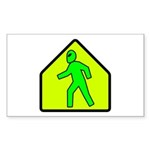 aliencrossingblk Sticker (Rectangle 50 pk)