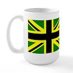 Black Union Jack Large Mug