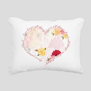 Love is Patient Rectangular Canvas Pillow