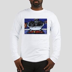 BLACK CHOW CHOW BATH Long Sleeve T-Shirt