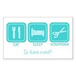 EatSleepScrap-stick Sticker (Rectangle 50 pk)