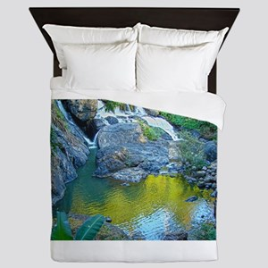 Secluded Waterfall Queen Duvet
