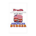 usaburger-2012-truth-w Sticker (Rectangle 50 pk)