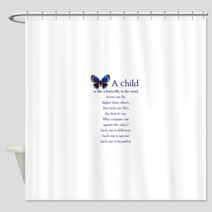 boy2butterflies Shower Curtain