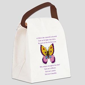 butterflypurple2 Canvas Lunch Bag