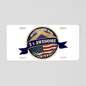 Scottish American 2x Awesome Aluminum License Plat