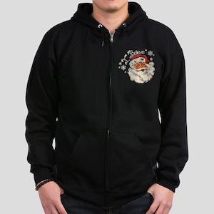 I believe in Santa Zip Hoodie (dark)