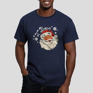 I believe in Santa Men's Fitted T-Shirt (dark)