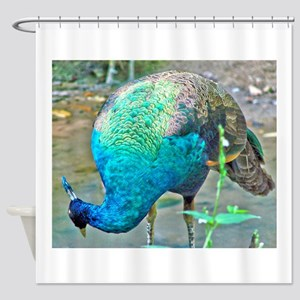 Lady Peacock Shower Curtain