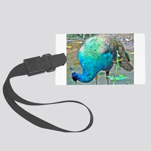 Lady Peacock Large Luggage Tag
