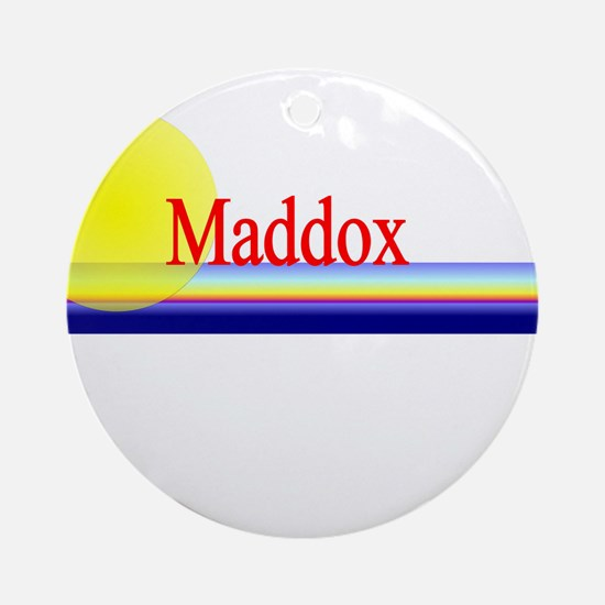 Maddox Ornament (Round)