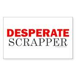 desperatescrapper Sticker (Rectangle 50 pk)