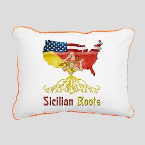 American Sicilian Roots Rectangular Canvas Pillow