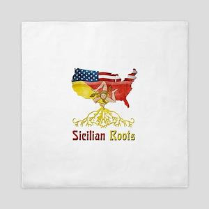 American Sicilian Roots Queen Duvet