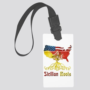American Sicilian Roots Large Luggage Tag