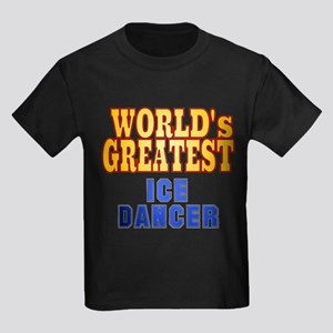 World's Greatest Ice Dancer Kids Dark T-Shirt