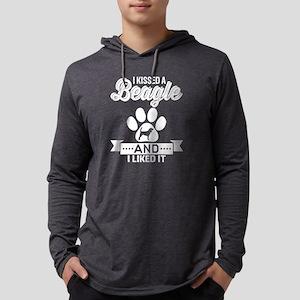 I Kissed A Beagle and I Liked It Mens Hooded Shirt