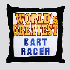 World's Greatest Kart Racer Throw Pillow