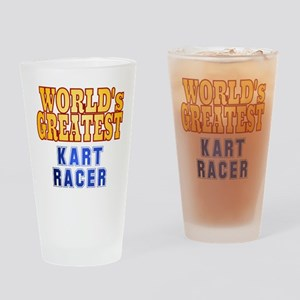 World's Greatest Kart Racer Drinking Glass