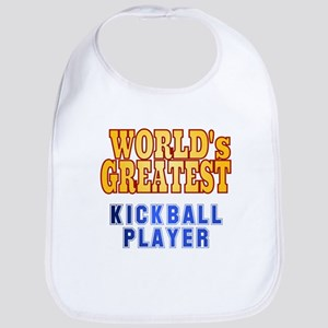 World's Greatest Kickball Player Bib