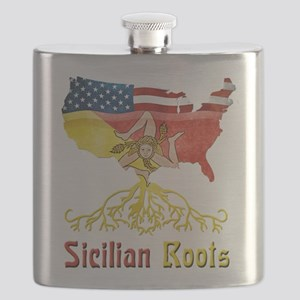American Sicilian Roots Flask