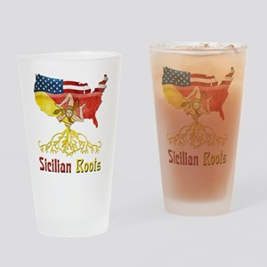 American Sicilian Roots Drinking Glass