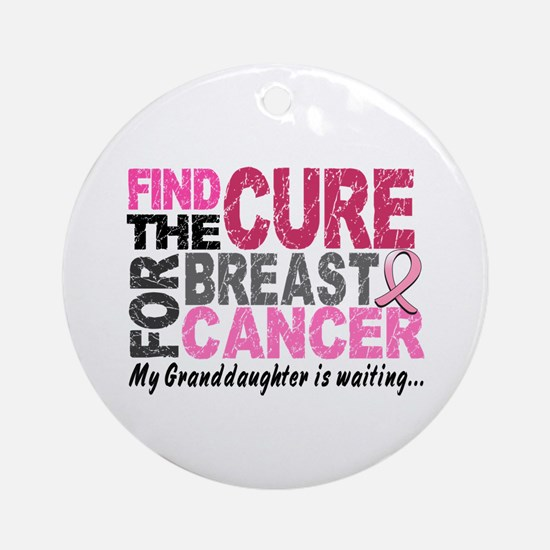 Find The Cure 1.2 Breast Cancer Ornament (Round)