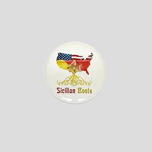 American Sicilian Roots Mini Button